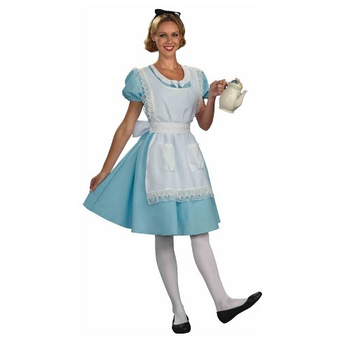 Adult Disney Alice in Wonderland Halloween Costume Dress with Hair Ribbon - Large - image 1 of 1