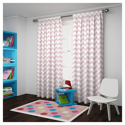 Wavy Chevron Blackout Curtain Panel Pink (42 x63 )- Eclipse My Scene