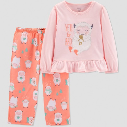 fcc4f4ce6 Baby Girls  Yeti 2pc Pajama Set - Just One You® made by carter s Coral 18M
