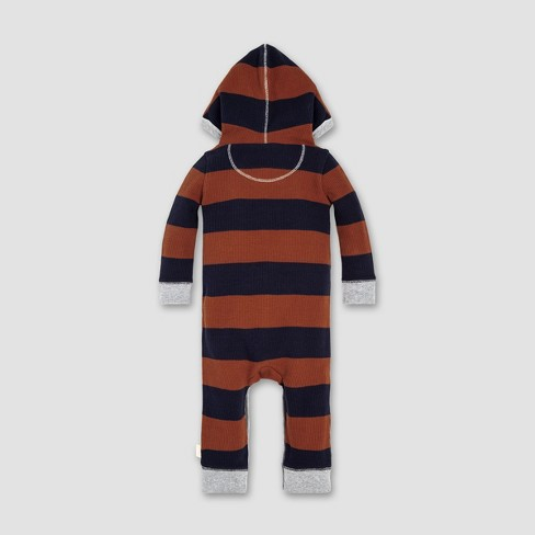 40e4b2805 Burt s Bees Baby® Baby Boys  Thermal Rugby Stripe Coverall ...