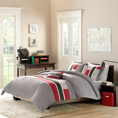 Red Maverick Comforter Set Full/Queen 4pc