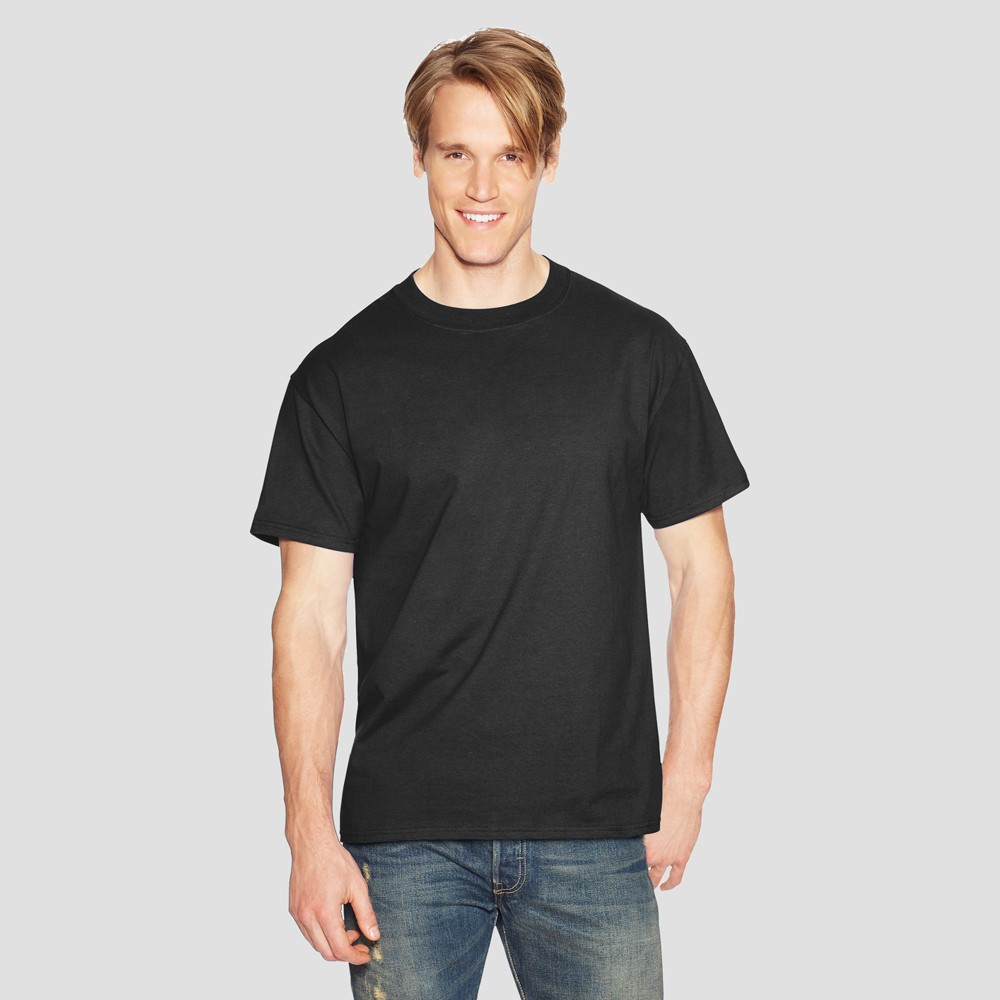 Hanes Men's Short Sleeve Beefy T-Shirt - Black L