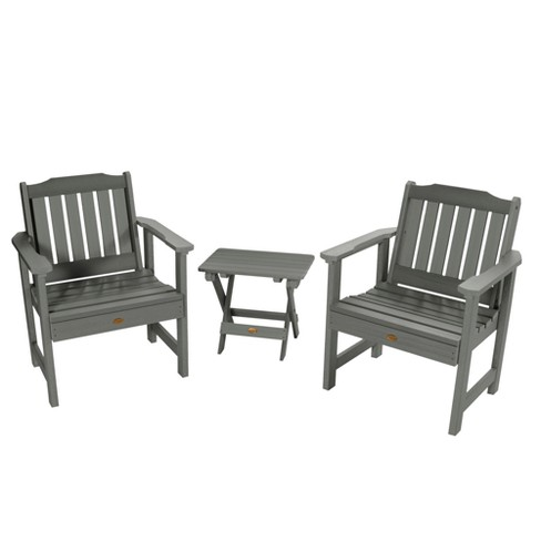 Lehigh Garden Chair 2pk with Folding Adirondack Side Table - Highwood - image 1 of 3