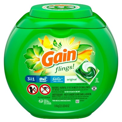 Gain flings! Original Laundry Detergent Pacs - 51ct