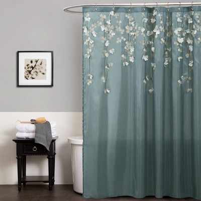 Flower Drops Shower Curtain - Lush Décor