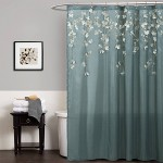 Cocoa Flower Shower Curtain Blue Lush