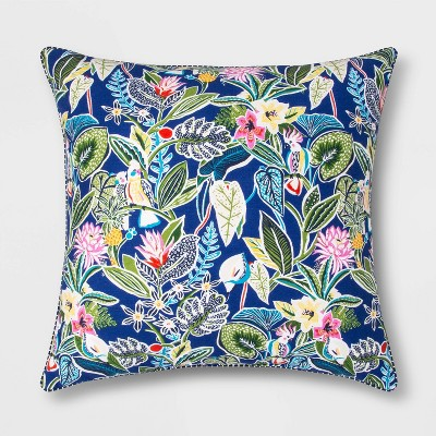 Oversized Square Reversible Printed Cotton Pillow - Opalhouse™