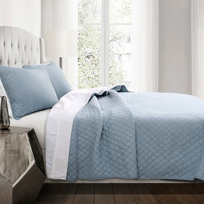 Ava Diamond Oversized Cotton Quilt Set - Lush Décor