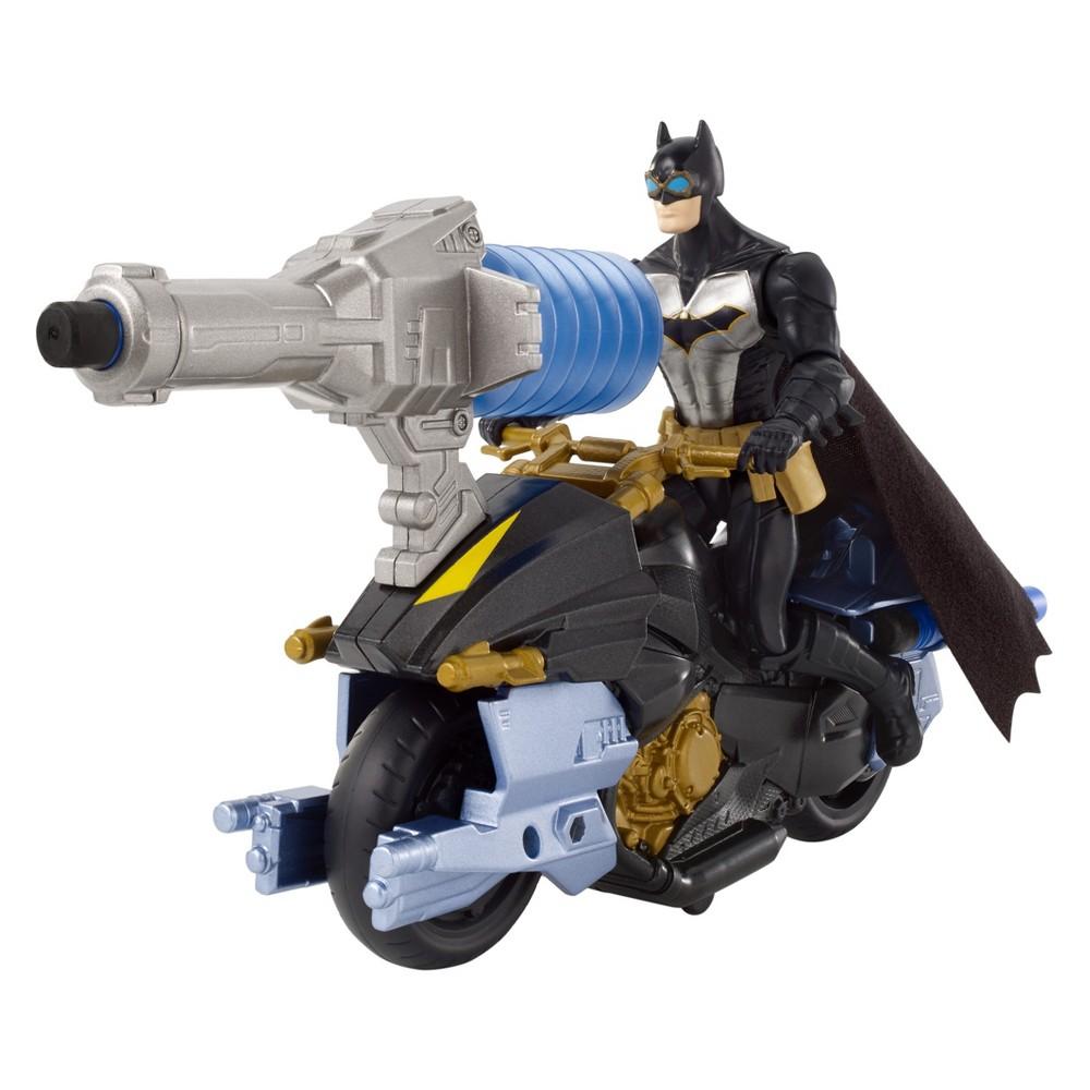 Batman Missions Air Power Blast Attack Batman & Batcycle Figure & Vehicle