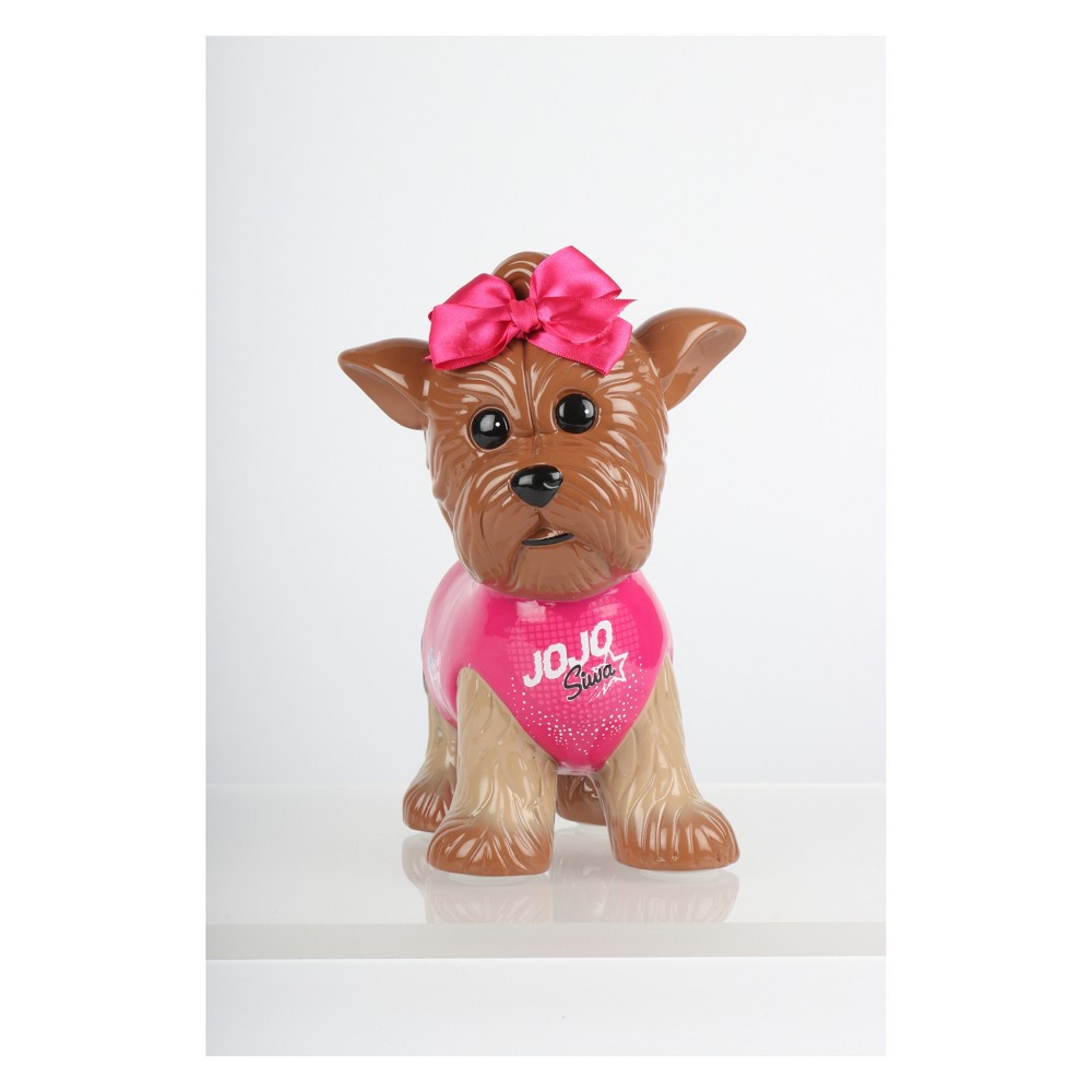 Image of JoJo Siwa Dog Ceramic Bank, Brown Velvet