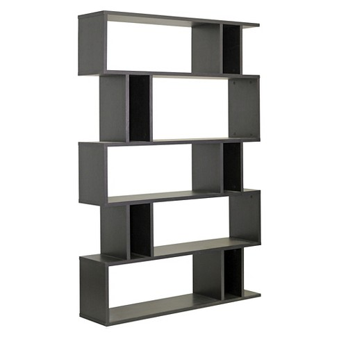 Goodwin 63 75 5 Level Modern Bookshelf Dark Brown Baxton Studio