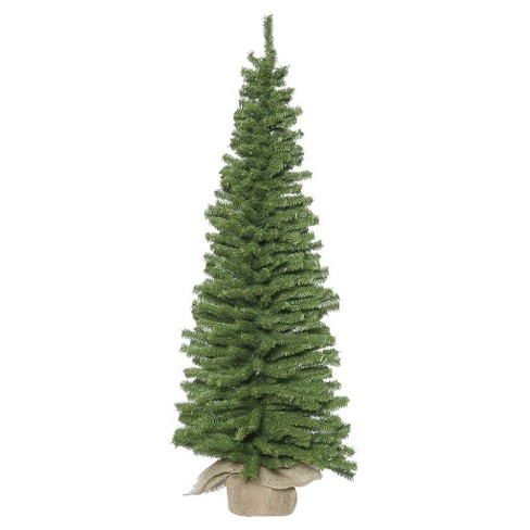 4ft Unlit Pine Artificial Christmas Tree Slim Comes in Burlap Base - image 1 of 1