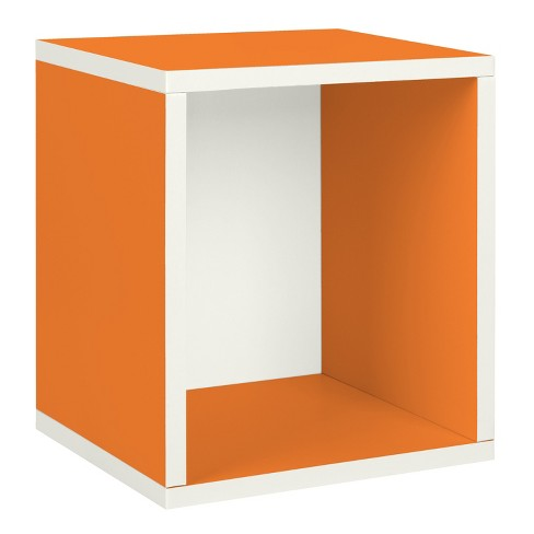 Way Basics Stackable Eco Storage Cube Cubby Organizer, Orange - Formaldehyde Free - Lifetime Guarantee - image 1 of 8