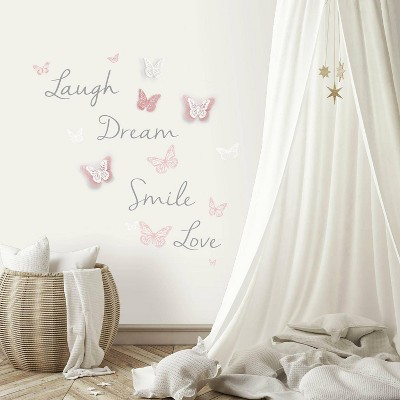 3D Butterfly Dream Peel and Stick Wall Decal - RoomMates