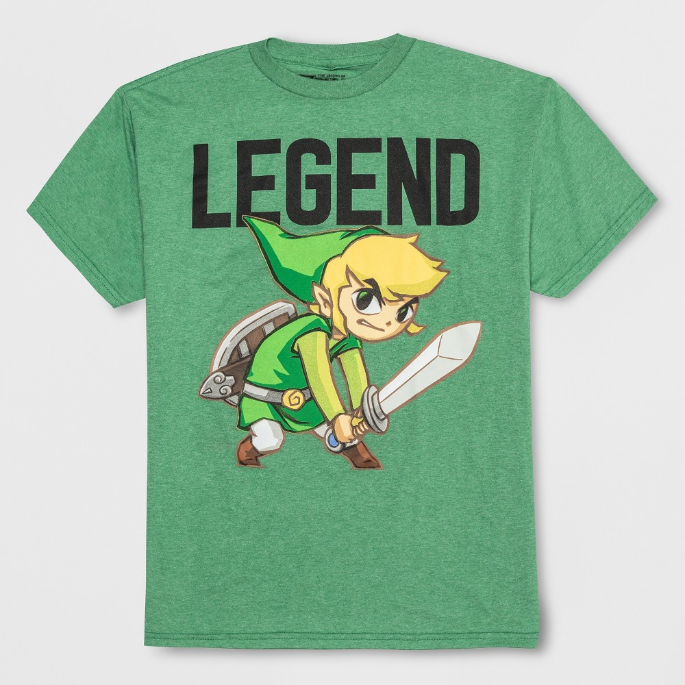 Boys' The Legend of Zelda St. Patrick's Day Short Sleeve T-Shirt - Green L