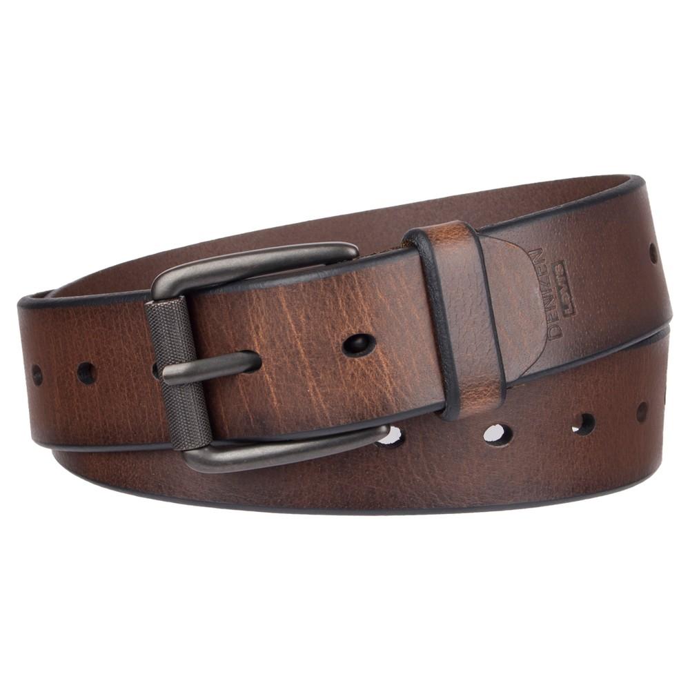 Image of DENIZEN from Levi's Men's Roller Buckle Casual Leather Belt - Brown M, Men's, Size: Medium