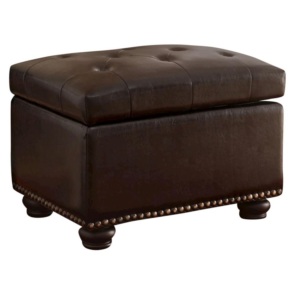 Storage Ottoman - Brown - Convenience Concepts