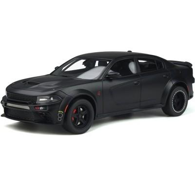 Dodge Charger SRT Hellcat Widebody Tuned by Speedkore Matt Black 1/18 Model Car by GT Spirit