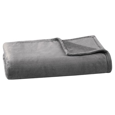 Microlight Plush Blanket (Full/Queen)Charcoal