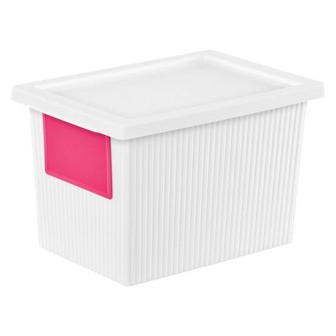 Sterilite 5 4 Qt Storage Tote White