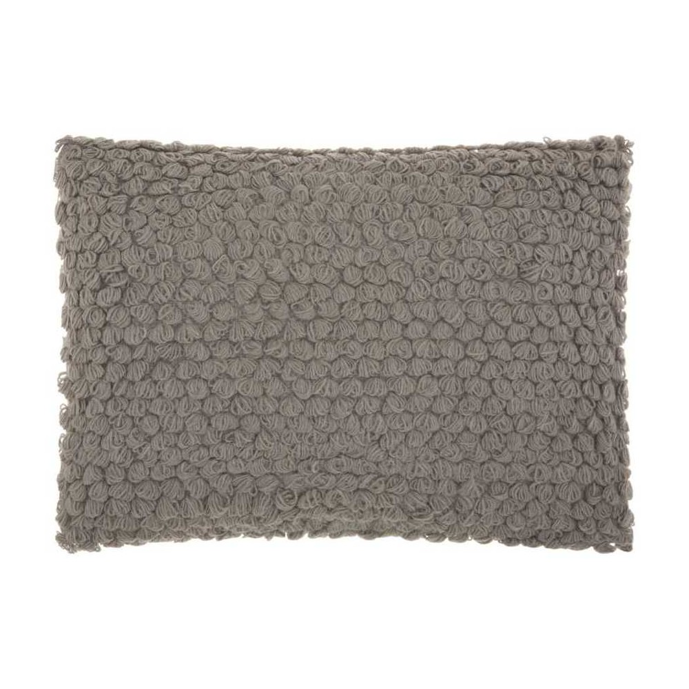 Image of Light Gray Mosaic Throw Pillow - Mina Victory, Size: Lumbar