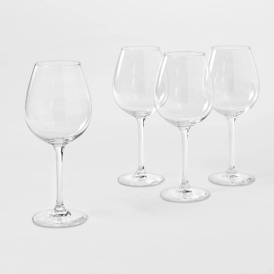 20.7oz 4pk Crystal Red Wine Glasses - Threshold™