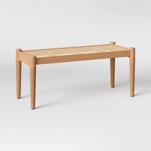 Cane and Wood Bench Brown - Project 62™ - image 1 of 4