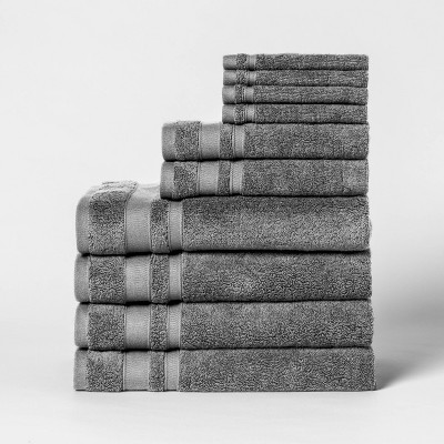 10pk Towel Set Dark Gray - Threshold™