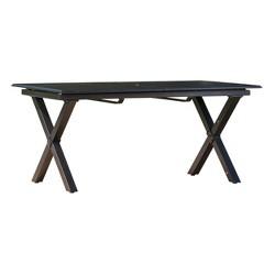 Exuma Rectangular Cast Aluminum Expandable Dining Table - Black - Christopher Knight Home