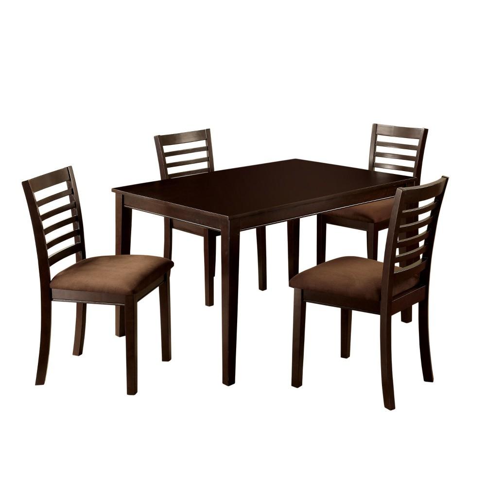 Image of 5pc miBasics Glenwood Dining Table Set in Espresso