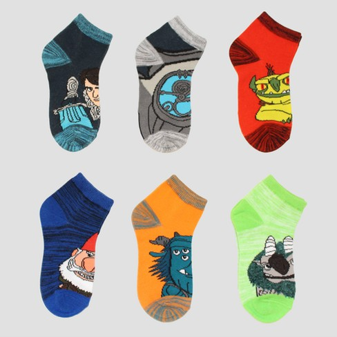 Boys' Trollhunters 6pk Socks - Charcoal Heather - image 1 of 1