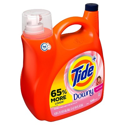 Tide Plus Downy April Fresh High Efficiency Liquid Laundry Detergent