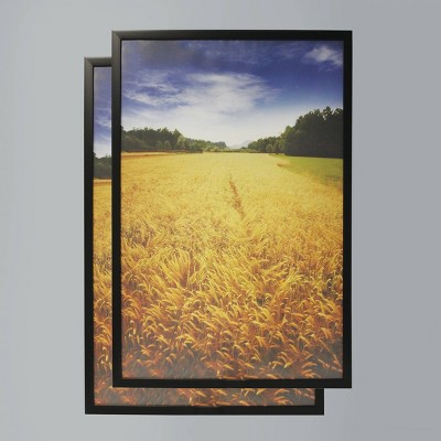 """(Set of 2) 24"""" x 36"""" Poster Frame Black - Room Essentials™"""