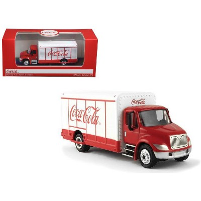 """""""Coca-Cola"""" Beverage Truck Red and White 1/87 Diecast Model by Motorcity Classics"""
