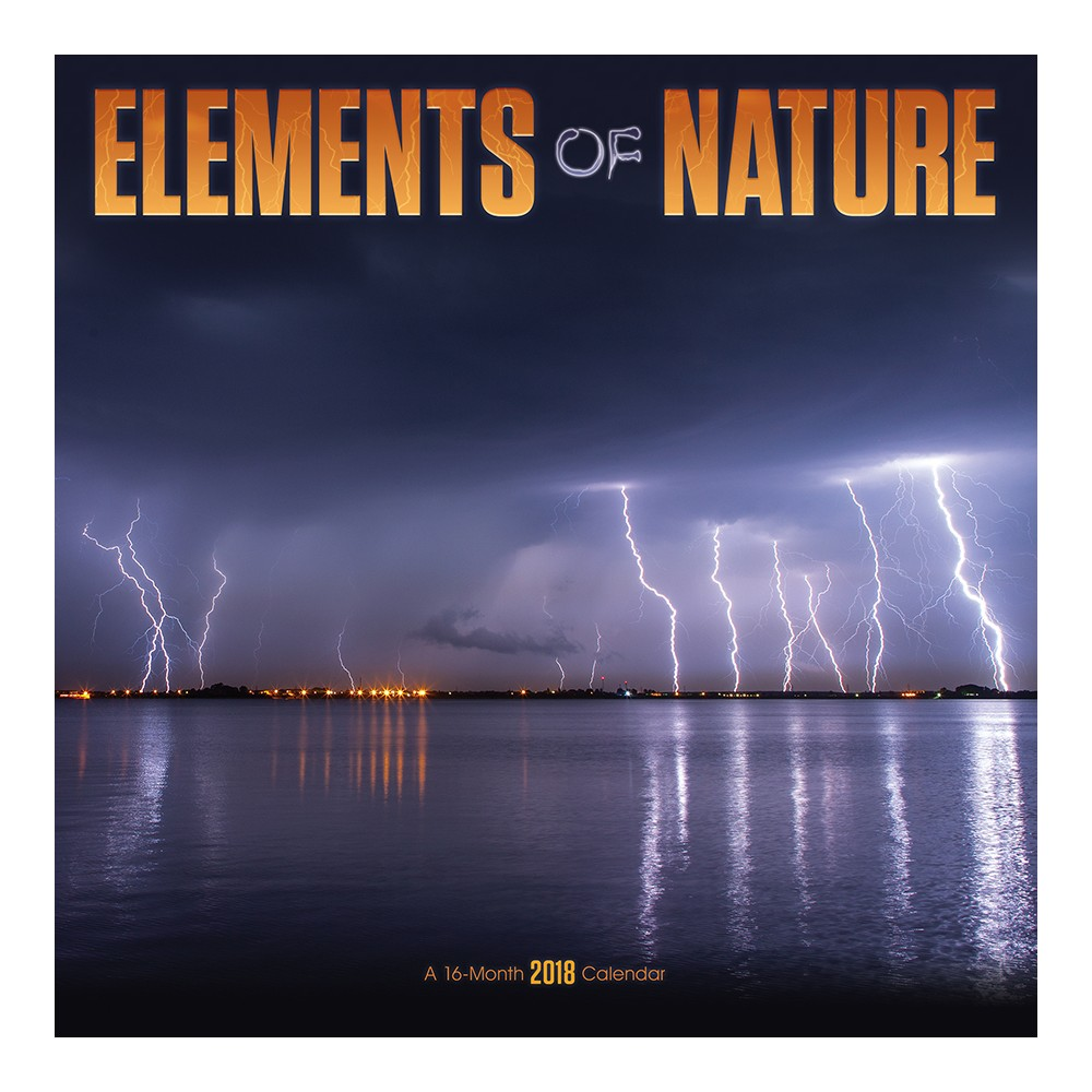 2018 Elements of Nature Wall Calendar - Trends International, Multi-Colored