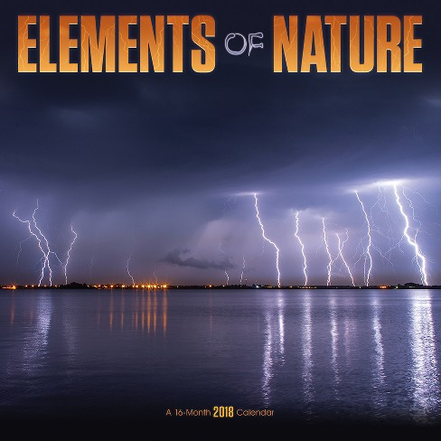 2018 Elements of Nature Wall Calendar - Trends International - image 1 of 4