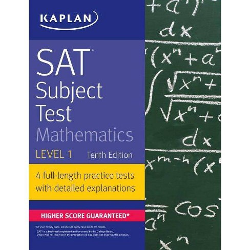 SAT Subject Test Mathematics Level 1 - (Kaplan Test Prep) (Paperback) - image 1 of 1