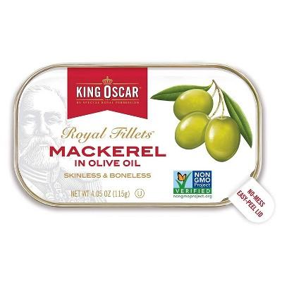 King Oscar Royal Fillets Mackerel in Olive Oil - 4.05oz