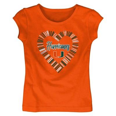NCAA Miami Hurricanes Toddler Girls' Short Sleeve Crew Neck T-Shirt
