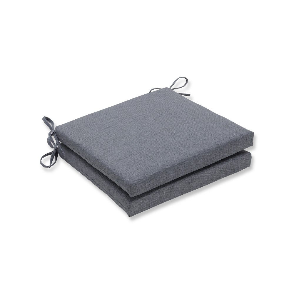 Rave 2pc Indoor/Outdoor Squared Corners Seat Cushion - Pillow Perfect, Gray