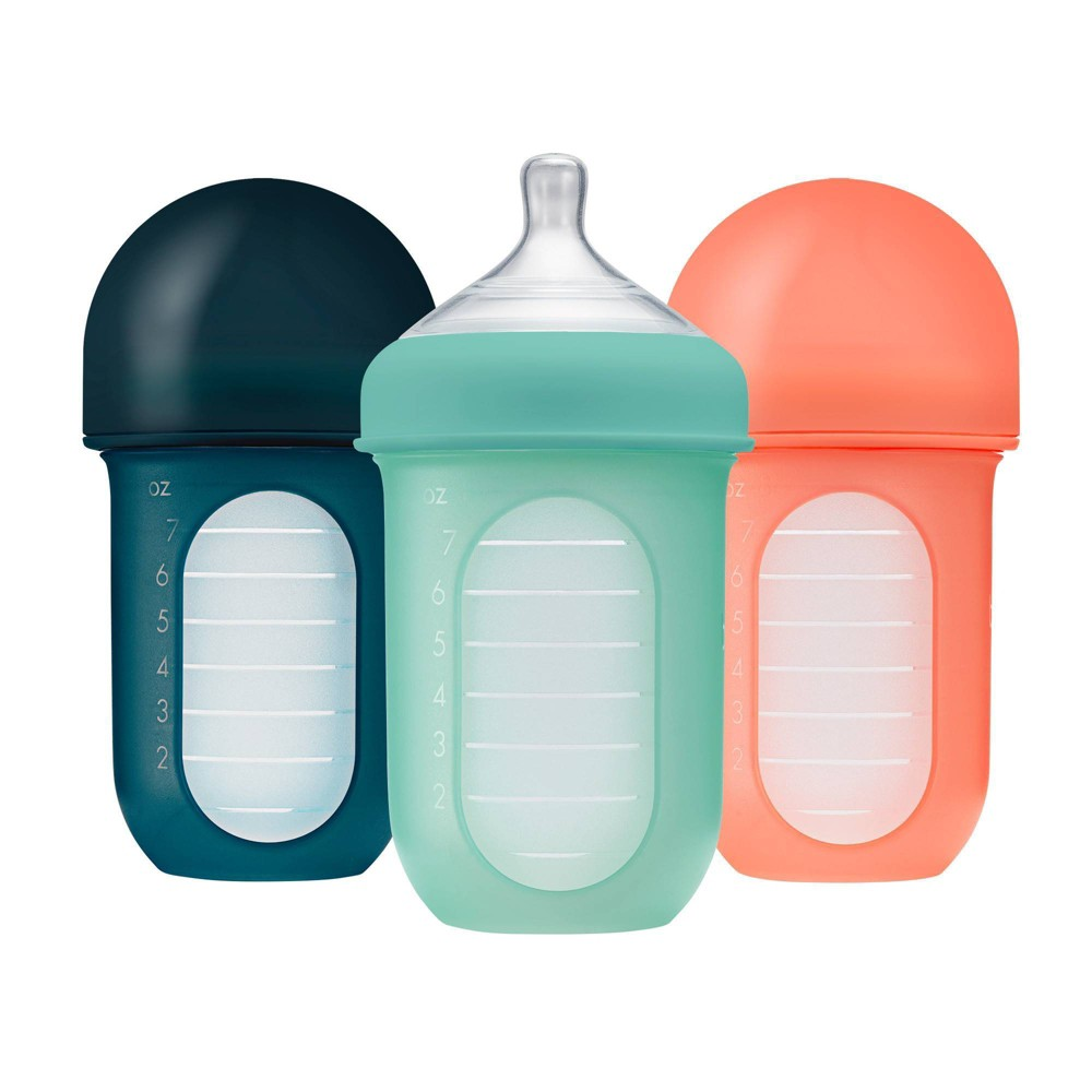 Image of Boon Nurhs Reusable Silicone Pouch Bottles - 8oz/3pk Mint