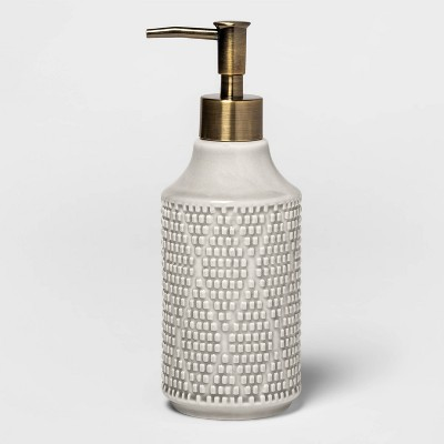 Canby Ceramic Soap Pump Gray - Threshold™
