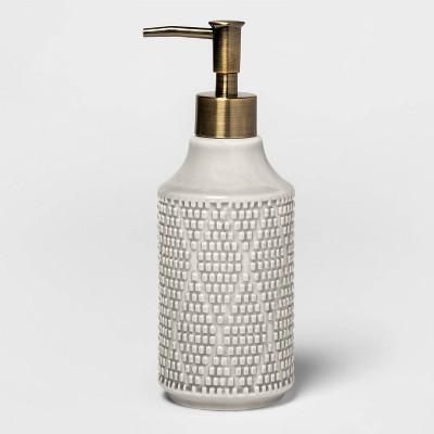 Canby Ceramic Soap Pump Gray - Threshold™