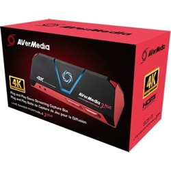 AVerMedia Live Gamer Portable 2 Plus - Functions: Video Game Capturing, Video Game Recording, Video Game Streaming - USB 2.0 - 4096 x 2160
