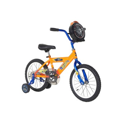 "Hot Wheels 16"" Kids' Bike with Carrying Case - Orange"