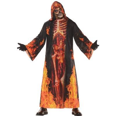 Adult Underworld Skeleton Cloak Halloween Costume One Size