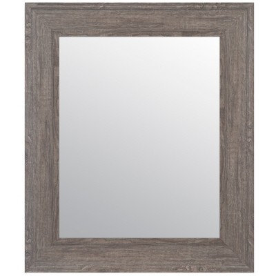 "16""x20"" Woodgrain Framed Accent Wall Mirror Gray - Gallery Solutions"