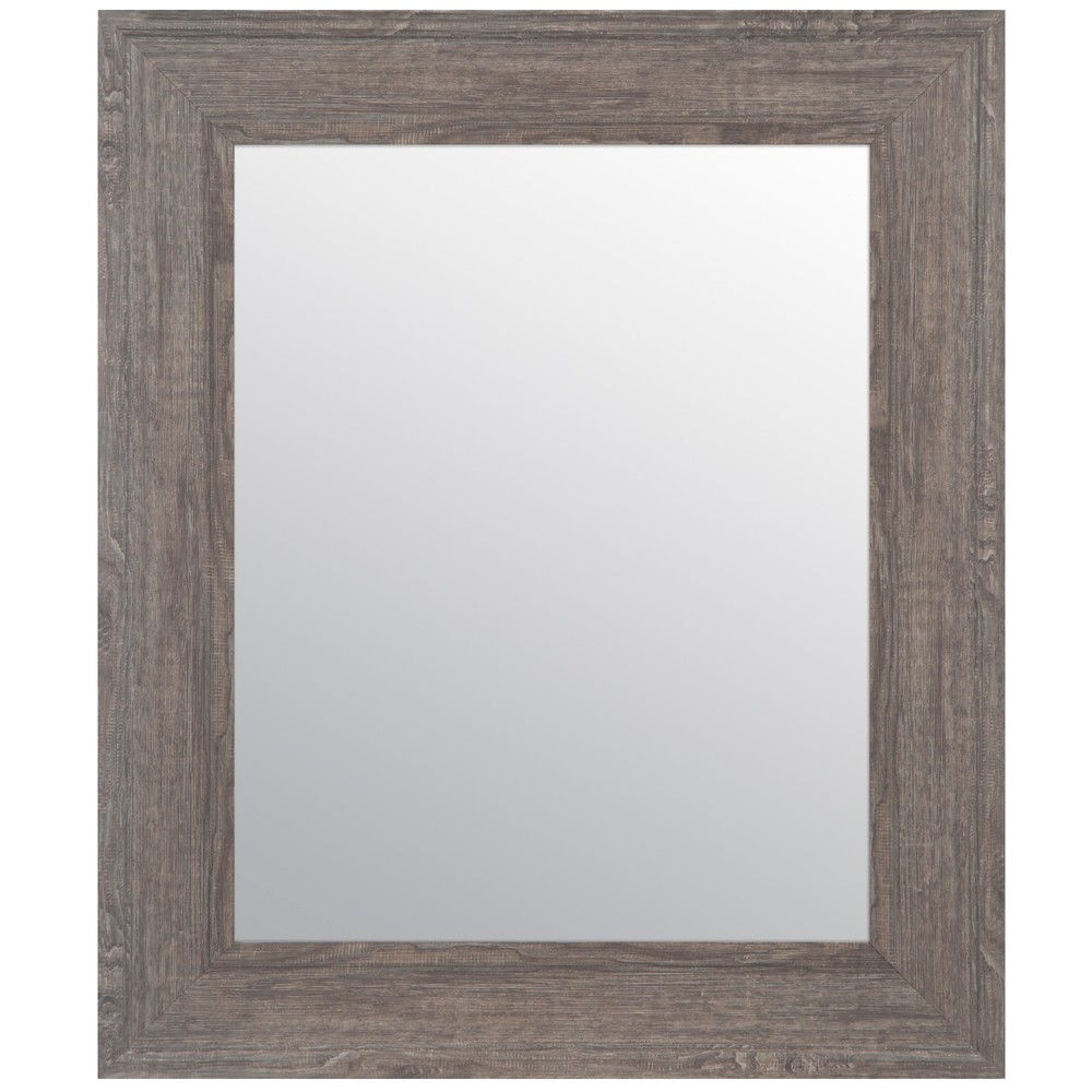 """Image of """"16""""""""x20"""""""" Woodgrain Framed Accent Wall Mirror Gray - Gallery Solutions"""""""