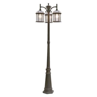 Arboretum 3-Lantern Lamp Post In Rust