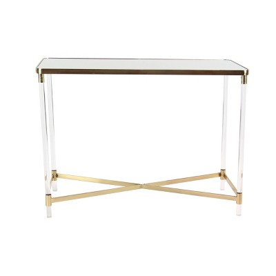 Modern Acrylic Console Table Gold - Olivia & May